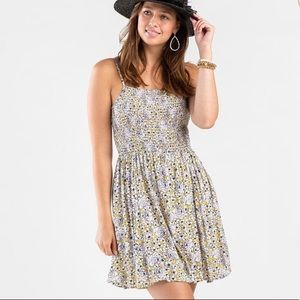 Floral Smocked Sun Boho Dress